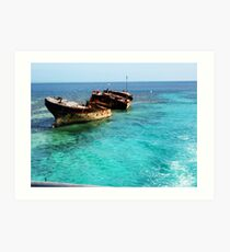Shipwreck - Heron Island Art Print