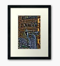 Tin Man Tin Horse Framed Print