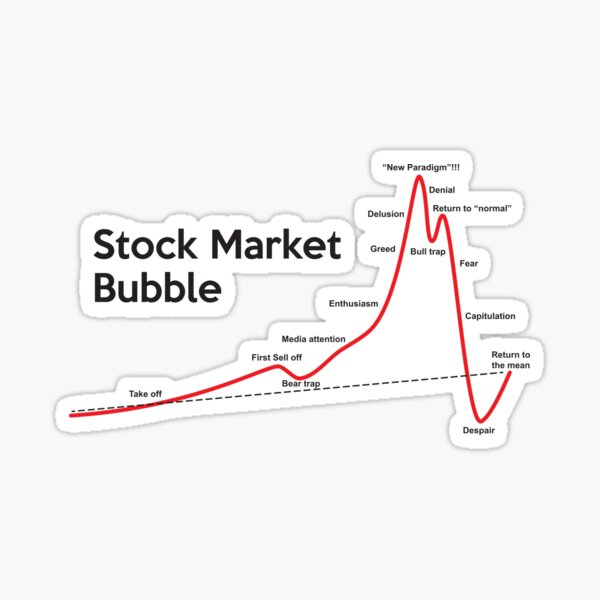 Stock Market Bubble Sticker