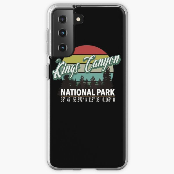 Kings Canyon National Park With Awesome GPS Location Design Samsung Galaxy Soft Case