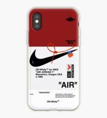 Vinilo o funda para iPhone Zapatillas de deporte blancas AJ AIR