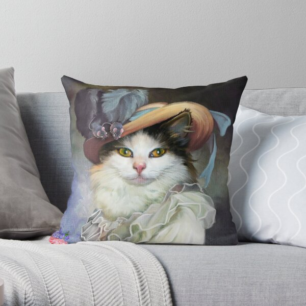 Lady Mitsy (PCD2557) Throw Pillow