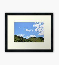 Blue Skies COLORADO Framed Print