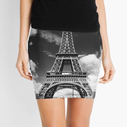 The crowd around the Eiffel Tower - Paris, France Mini Skirt