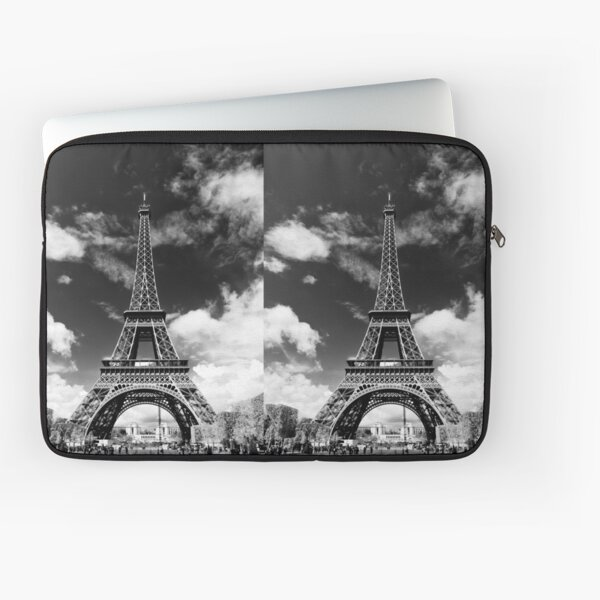 The crowd around the Eiffel Tower - Paris, France Laptop Sleeve