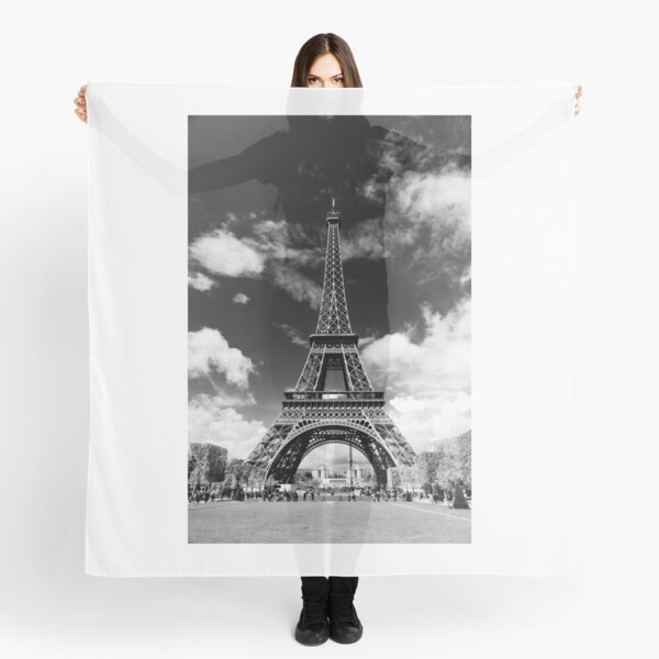The crowd around the Eiffel Tower - Paris, France Scarf