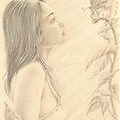 """""""Butterfly"""" Colour Pencil Art by John D Moulton"""
