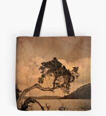 Leaning tree with textures Tote Bag