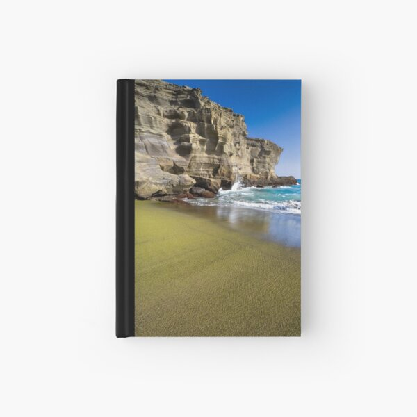 Green Sand Beach Hardcover Journal