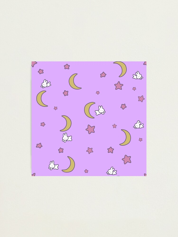 Alternate view of Sailor Moon inspired Bunny of the Moon Bedspread Blanket Print Photographic Print