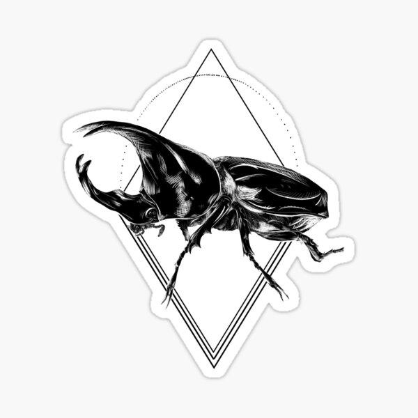 Geometric Rhino Beetle Sticker