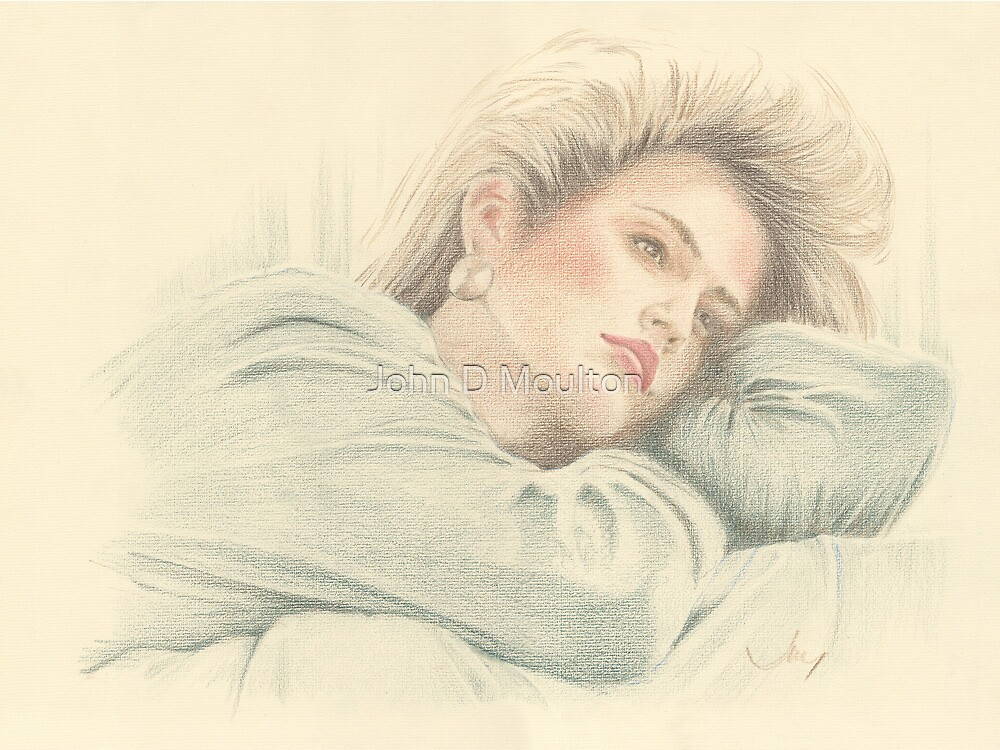 """Cindy"" Colour Pencil Artwork by John D Moulton"