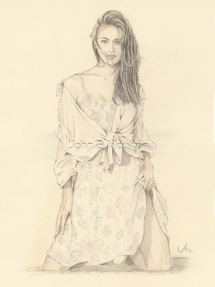 """Elise"" Colour Pencil Artwork by John D Moulton"