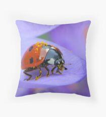 Pollen Lady Throw Pillow
