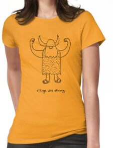 Vikings are strong black and white drawing Womens Fitted T-Shirt
