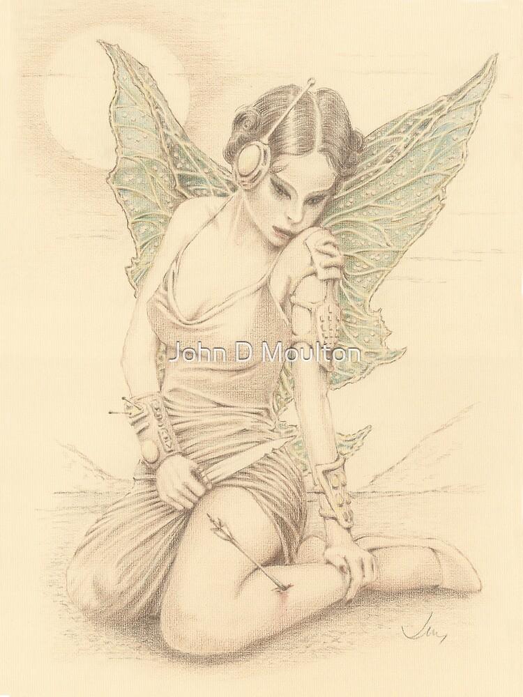 """Fairy Warrior"" Colour Pencil Artwork by John D Moulton"