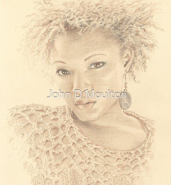 """Gloria"" Colour Pencil Artwork by John D Moulton"