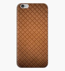 Chocolate brown leather lattice pattern - By Brian Vegas iPhone Case