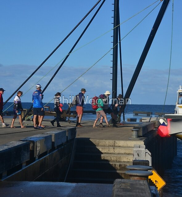 ALL  ABOARD AT  NORFOLK  ISLAND. by Phil Woodman