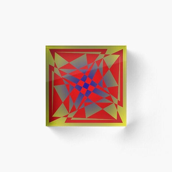 """Dance"" - digital abstract illustration mandala Acrylic Block"