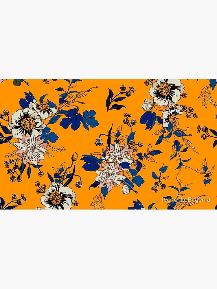 Yellow Floral pattern by IvchenkoEvgenia