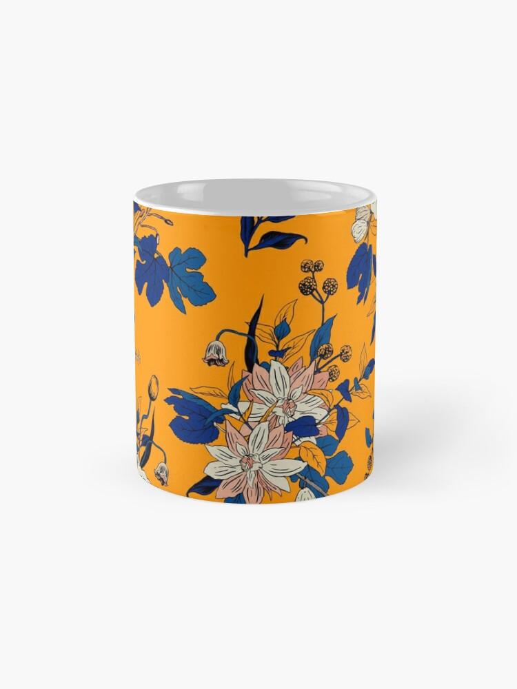 Alternate view of Yellow Floral pattern Mug