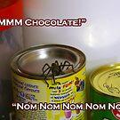 Spider eating chocolate quik by WolfieRankin
