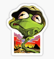 Green and Loathing Sticker