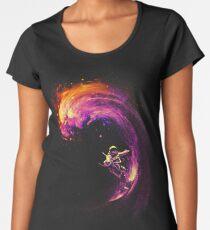 Surfen im Weltraum Premium Rundhals-Shirt