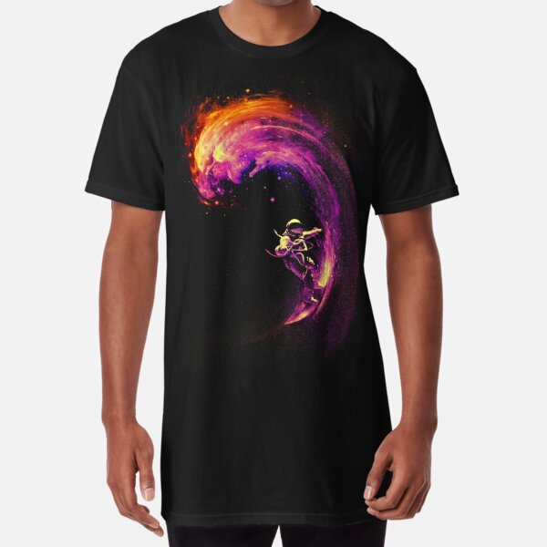 Surf espacial Camiseta larga