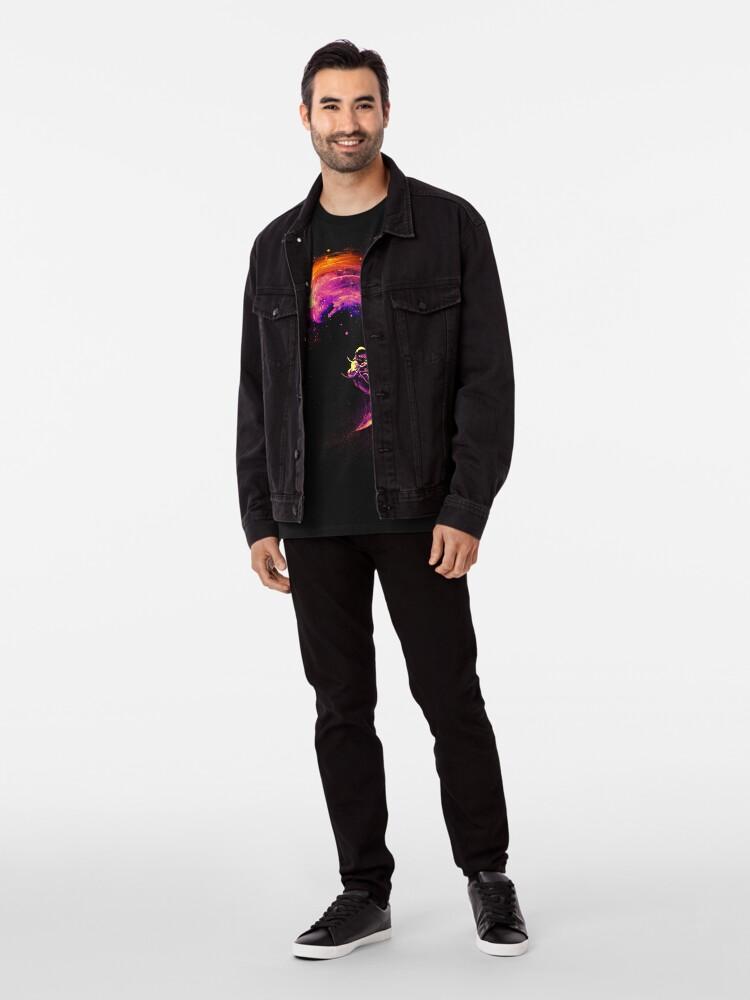 Alternative Ansicht von Surfen im Weltraum Premium T-Shirt
