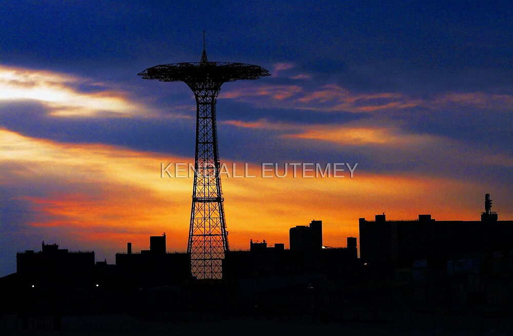 BLUES IN THE NIGHT (Coney Island, New York.) by KENDALL EUTEMEY