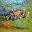Rainbow Dart Frog Painting in Watercolor by icansketchu