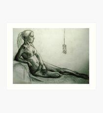 girl and extender Art Print