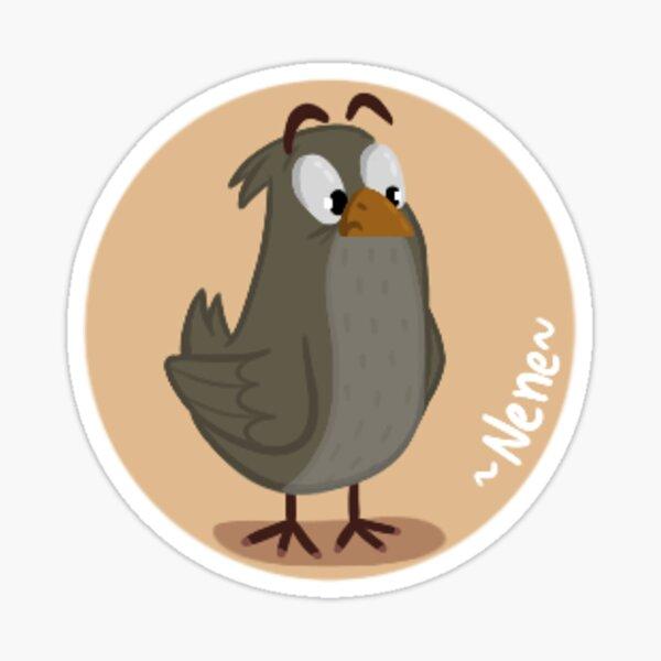 Skeptical bird  Sticker
