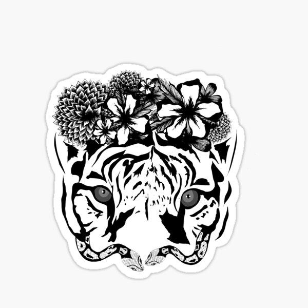 Flower Tiger Sticker