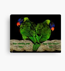 Wear Something Green Today ! Canvas Print