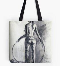 model with a hoop Tote Bag
