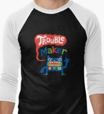 Trouble Maker - dark Men's Baseball ¾ T-Shirt