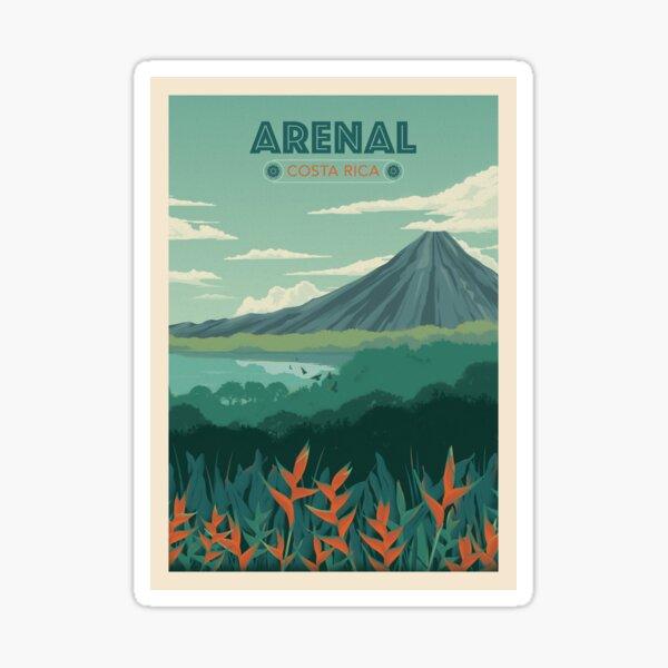Volcan Arenal, Costa Rica Pegatina