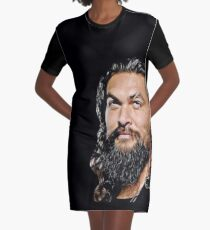 Jason Momoa digital artwork, drawing painting, fanart, fandom, sexy hot, black and white, good vibes Graphic T-Shirt Dress