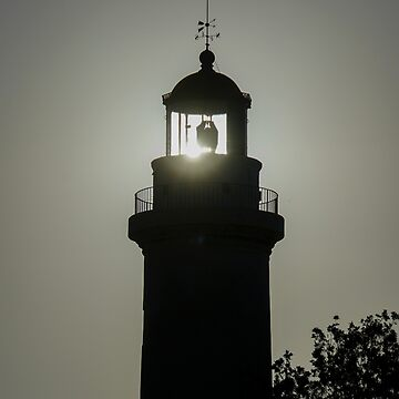 Silhouette of the Lighthouse in town of Alexandroupoli, East Macedonia and Thrace, Greece  by PhotoStock-Isra