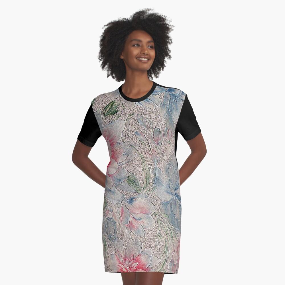 Floral Riot #2 Graphic T-Shirt Dress