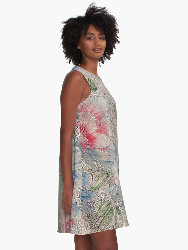 Alternate view of Floral Riot #2 A-Line Dress