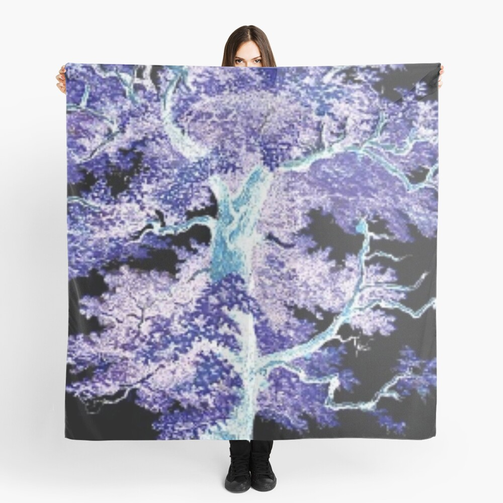 Tree in the Night Scarf