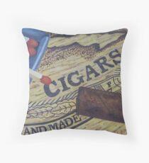 Handmade Cigars Throw Pillow