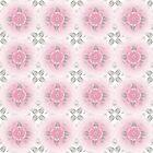 Abstract Pink  Bohemian Paisley by Stellagala