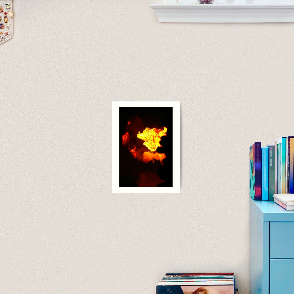 Is That Lava In The Sky? Art Print