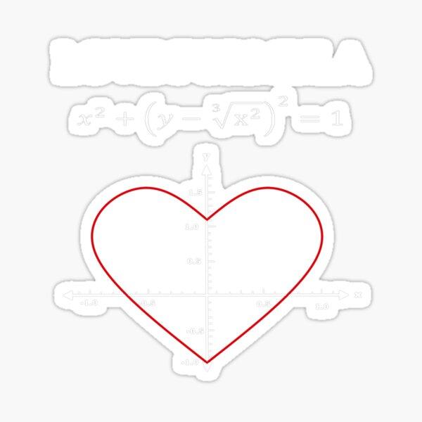 Love formula math Sticker