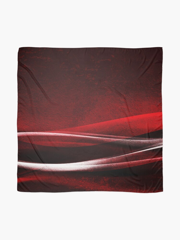Alternate view of Red Velvet Wave Scarf